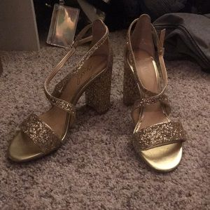 Cook Heel Glitter Sandal Jewel Badgley